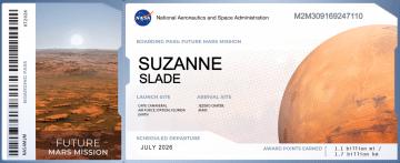 Mars Boarding Pass