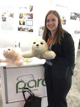 Melinda Bradley with AI animals